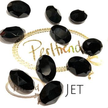 Perltrend Luzern Schweiz Onlineshop Schmuck Perlen Accessoires Verarbeitung Design Swarovski Crystals Crystal original  Fancy Stone oval 18 mm facettiert Jet