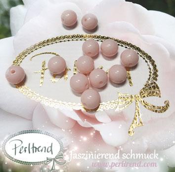 Perlen www.perltrend.com Jewel  Jewellery Jewelry Schmuck Luzern Schweiz Online Shop Acrylperlen Acryl DIY basteln Schmuckdesign Dekoration  glänzend rosa hellrosa alabaster babyrosa