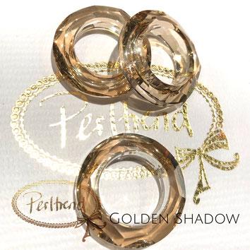 www.perltrend.com Swarovski Crystal Elements original Crystals Perltrend Luzern Schweiz Onlineshop Schmuck Jewellery Schmuckverarbeitung Cosmic Ring Golden Shadow 30 mm