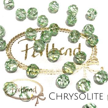 www.perltrend.com Perltrend Luzern Schweiz Onlineshop Perlen Schmuck Accessoires original Swarovski Crystals Crystal 5000 facet bead facettiert rund chrysolite hellgrün grün