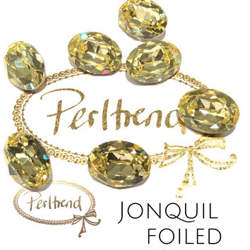 Perltrend Luzern Schweiz Onlineshop Schmuck Perlen Accessoires Verarbeitung Design Swarovski Crystals Crystal original  Fancy Stone oval 18 mm facettiert Jonquil