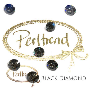 Perltrend Luzern Schweiz Onlineshop Schmuck Perlen Accessoires Verarbeitung Design Swarovski Crystals Crystal original Xilion 1028 Chaton Round Stone Crystal facettiert Black Diamond 8 mm