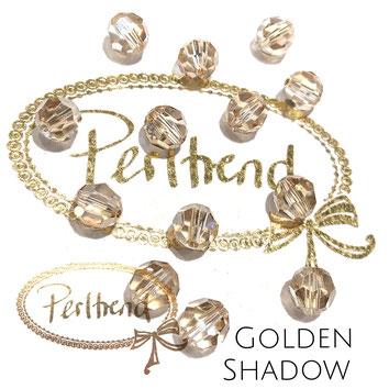 www.perltrend.com Perltrend Luzern Schweiz Onlineshop Perlen Schmuck Accessoires original Swarovski Crystals Crystal 5000 facet bead facettiert rund Crystal Golden Shadow  8 mm