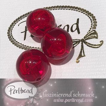 Perlen www.perltrend.com Jewel  Jewellery Jewelry Schmuck Luzern Schweiz Online Shop Acrylperlen Acryl DIY basteln Schmuckdesign Dekoration rot transparent