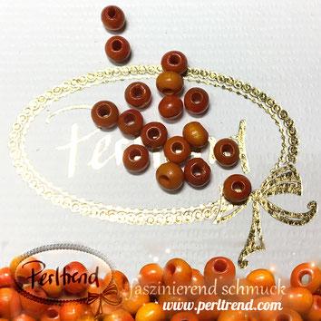 www.perltrend.com Sandelholz Sandelwood Perlen gelb 6mm spirituell natur Budda Gebet Gebetskette