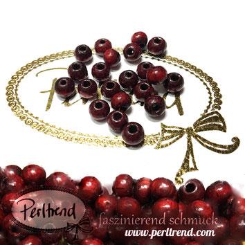 www.perltrend.com Sandelholz Sandelwood Perlen rot 6mm spirituell natur Budda Gebet Gebetskette