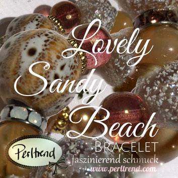 Perltrend www.perltrend.com Arm Schmuck Armschmuck Bracelet Armkette Armband Schmuck Jewellery Jewelry online shop Luzern Schweiz Design Beige Summer Treasures Lovely Sandy Beach