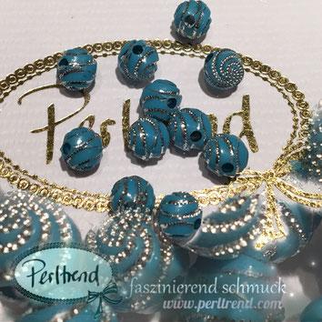 Perlen www.perltrend.com Jewel  Jewellery Jewelry Schmuck Luzern Schweiz Online Shop Acrylperlen Acryl DIY basteln Schmuckdesign Dekoration türkis blau