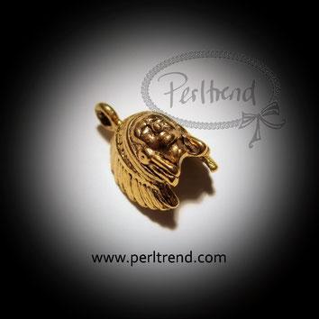 www.perltrend.com Anhänger Indianer goldfarben