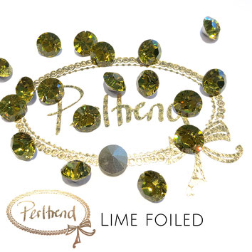 Perltrend Luzern Schweiz Onlineshop Schmuck Perlen Accessoires Verarbeitung Design Swarovski Crystals Crystal original Xilion 1028 Chaton Round Stone Crystal facettiert 8 mm Lime