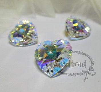 Perltrend www.perltrend.com Luzern Schweiz Onlineshop Schmuck Perlen Swarovski Crystals Pendant Pendants Anhänger heart Herz Crystal AB 14 mm