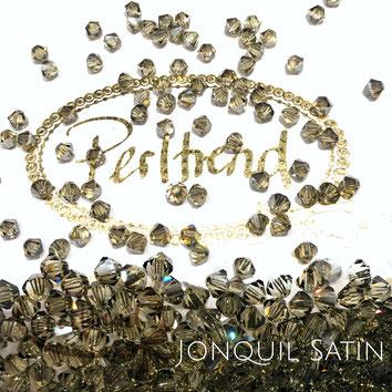 Perltrend www.perltrend.com Luzern Schweiz Onlineshop Schmuck Perlen Swarovski Crystals Bicone beads bead Doppelkegel 4 mm Jonquil Satin