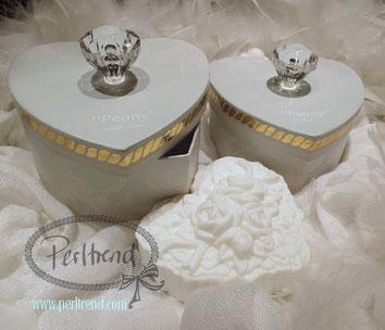 "www.perltrend.com Kosmetik Seifen ""Peony"" with love Pfingstrosenduft"