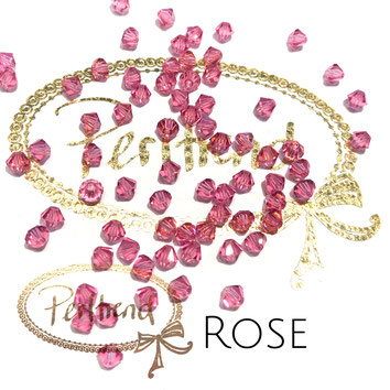 Perltrend www.perltrend.com Luzern Schweiz Onlineshop Schmuck Perlen Swarovski Crystals Bicone beads bead Doppelkegel Rose