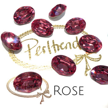 Perltrend Luzern Schweiz Onlineshop Schmuck Perlen Accessoires Verarbeitung Design Swarovski Crystals Crystal original  Fancy Stone oval 18 mm facettiert Rose