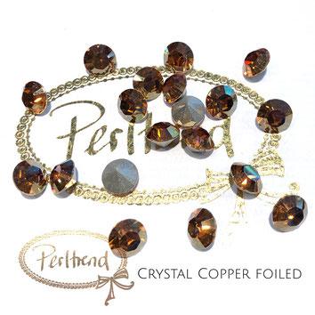 Perltrend Luzern Schweiz Onlineshop Schmuck Perlen Accessoires Verarbeitung Design Swarovski Crystals Crystal original Xilion 1028 Chaton Round Stone Crystal facettiert Crystal Copper 8 mm