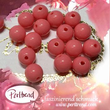 Perlen www.perltrend.com Jewel  Jewellery Jewelry Schmuck Luzern Schweiz Online Shop Acrylperlen Acryl DIY basteln Schmuckdesign Dekoration  glänzend koralle pastell orange hellorange rosaorange