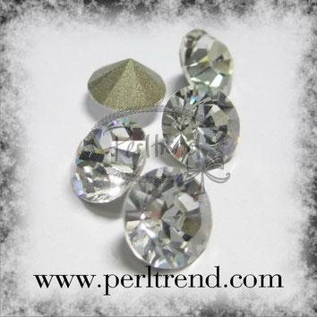 Perltrend Luzern Schweiz Onlineshop Schmuck Perlen Accessoires Verarbeitung Design Swarovski Crystals Crystal original Xilion 1028 Chaton Round Stone Crystal facettiert Crystal 8 mm
