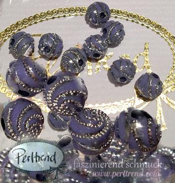 Perlen www.perltrend.com Jewel  Jewellery Jewelry Schmuck Luzern Schweiz Online Shop Acrylperlen Acryl DIY basteln Schmuckdesign Dekoration lila