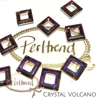 Perltrend Luzern Schweiz Onlineshop Schmuck Perlen Accessoires Verarbeitung Design Swarovski Crystals Crystal original Fancy Stones Square Ring 4439  14 mm Crystal Volcano