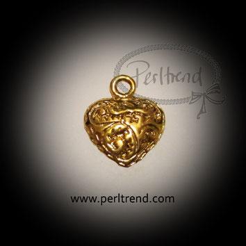 www.perltrend.com Anhänger goldfarben Herz