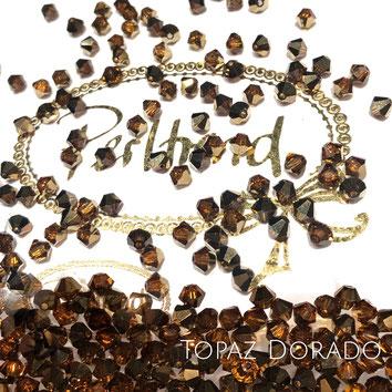 Perltrend www.perltrend.com Luzern Schweiz Onlineshop Schmuck Perlen Swarovski Crystals Bicone beads bead Doppelkegel Topaz Dorado