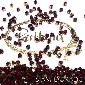 Perltrend www.perltrend.com Luzern Schweiz Onlineshop Schmuck Perlen Swarovski Crystals Bicone beads bead Doppelkegel Siam Dorado