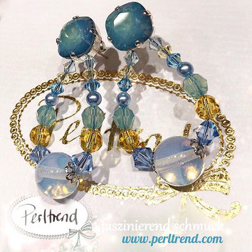www.perltrend.com Blue Moon Light Earrings Ohrschmuck trendfarben trend farbe little boy mode fashion colors frühjahr spring 2018 report pantone vogue fashionweek fashionista fashionblobber Perltrend Luzern Schweiz Onlineshop Jewelrydesign design style