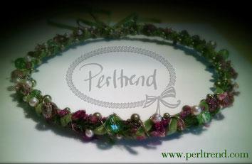 Kranz mit Blüten Kopf Schmuck Design by Perltrend