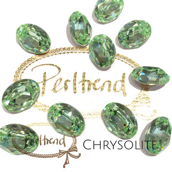Perltrend Luzern Schweiz Onlineshop Schmuck Perlen Accessoires Verarbeitung Design Swarovski Crystals Crystal original  Fancy Stone oval 18 mm Chrisolite facettiert