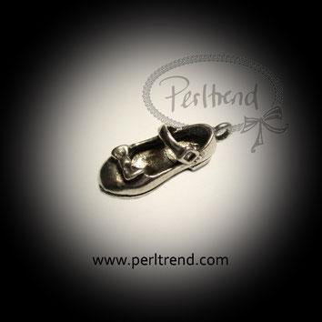 www.perltrend.com Anhänger silberfarben Schuhe Shoes Modeschmuck Pendant Schmuck Perltrend Luzern Schweiz Onlineshop