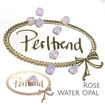 Perltrend www.perltrend.com Luzern Schweiz Onlineshop Schmuck Perlen Swarovski Crystals Bicone beads bead Doppelkegel 6 mm Rose Water Opal