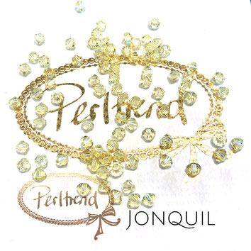 Perltrend www.perltrend.com Luzern Schweiz Onlineshop Schmuck Perlen Swarovski Crystals Bicone beads bead Doppelkegel 4 mm Jonquil