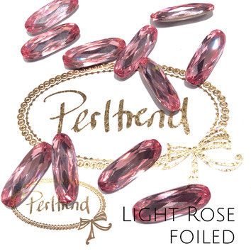 www.perltrend.com Swarovski Crystal Elements original Crystals Perltrend Luzern Schweiz Onlineshop Schmuck Jewellery Schmuckverarbeitung facettet facettierte Cabochons Crystal facettiert Fancy Stones Long Classic Oval 4161 Light Rose