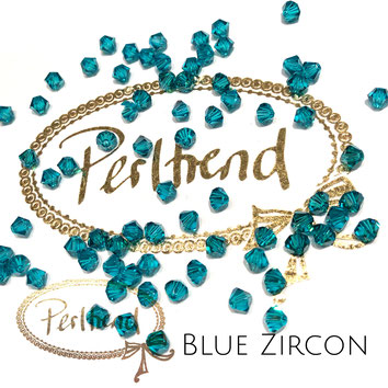 Perltrend www.perltrend.com Luzern Schweiz Onlineshop Schmuck Perlen Swarovski Crystals Bicone beads bead Doppelkegel 4 mm Blue Zircon
