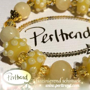 www.perltrend.com Armschmuck Gelb  Bracelet Armband Armschmuck Armkette Schmuck Perltrend Luzern Schweiz Online shop  Swarovski Crystals Glasperlen Honey Onyx Pretty Yellow sunny sonnig