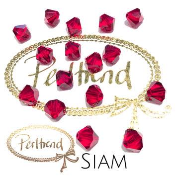 Perltrend www.perltrend.com Luzern Schweiz Onlineshop Schmuck Perlen Swarovski Crystals Bicone beads bead Doppelkegel 8 mm Siam