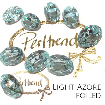 Perltrend Luzern Schweiz Onlineshop Schmuck Perlen Accessoires Verarbeitung Design Swarovski Crystals Crystal original  Fancy Stone oval 18 mm facettiert Light Azore