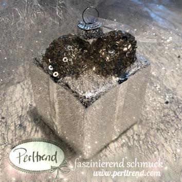 www.perltrend.com luzern schweiz onlineshop schmuck perlen dekoration accessoires home weihnachten weihnachtskugel geschenk 6 cm