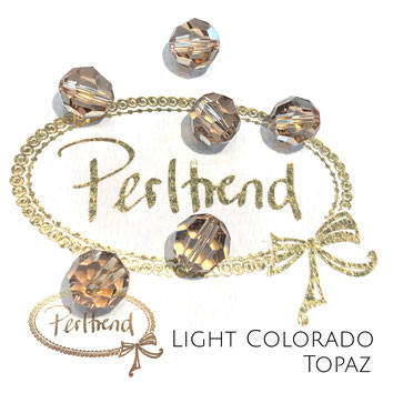 www.perltrend.com Perltrend Luzern Schweiz Onlineshop Perlen Schmuck Accessoires original Swarovski Crystals Crystal 5000 facet bead facettiert rund 10 mm Light Colorado Topaz