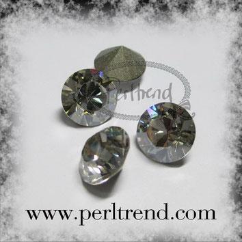Perltrend Luzern Schweiz Onlineshop Schmuck Perlen Accessoires Verarbeitung Design Swarovski Crystals Crystal original Xilion 1028 Chaton Round Stone Crystal facettiert Crystal Silver Shade 8 mm