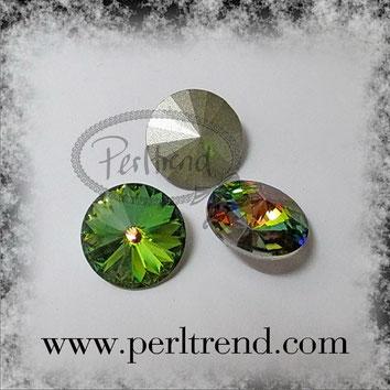 www.perltrend.com Swarovski Crystal Elements original Crystals Perltrend Luzern Schweiz Onlineshop Schmuck Jewellery Schmuckverarbeitung facettet facettierte Crystal Chaton Round Stones Rivoli 1122 Vitrail Medium 14 mm