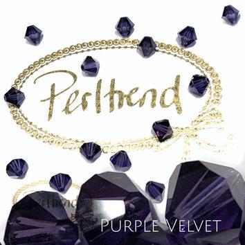Perltrend www.perltrend.com Luzern Schweiz Onlineshop Schmuck Perlen Swarovski Crystals Bicone beads bead Doppelkegel 6 mm Purple Velvet