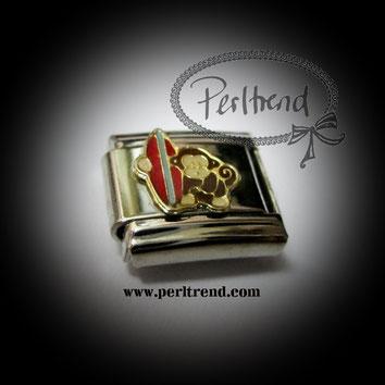 www.perltrend.com charm armband schmuck module monkey affe
