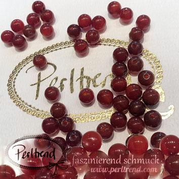 www.perltrend.com Edelsteine Gemstones Steine Perlen Heilsteine Schmuck Schmuckdesign Perltrend Luzern Schweiz Onlineshop  Karneol rot orangerot rund 6 mm