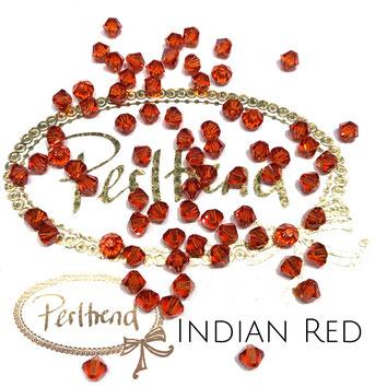 Perltrend www.perltrend.com Luzern Schweiz Onlineshop Schmuck Perlen Swarovski Crystals Bicone beads bead Doppelkegel 4 mm Indian Red