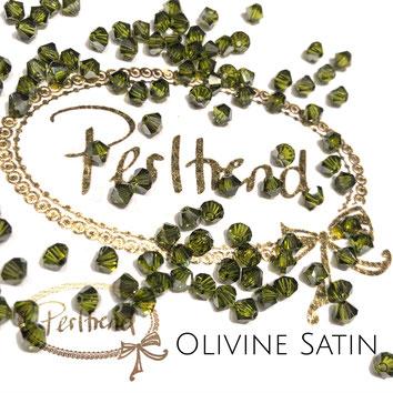 Perltrend www.perltrend.com Luzern Schweiz Onlineshop Schmuck Perlen Swarovski Crystals Bicone beads bead Doppelkegel 4 mm Olivine Satin