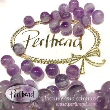 www.perltrend.com Edelsteine Gemstones Steine Perlen Heilsteine Schmuck Schmuckdesign Perltrend Luzern Schweiz Onlineshop Amethyst Chevron Amethystquarz violett-weiss