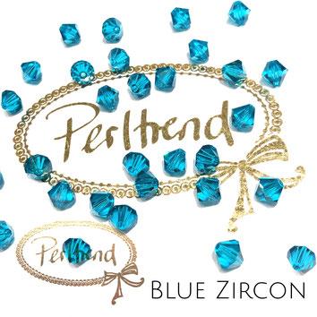 Perltrend www.perltrend.com Luzern Schweiz Onlineshop Schmuck Perlen Swarovski Crystals Bicone beads bead Doppelkegel 6 mm Blue Zircon