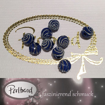 Perlen www.perltrend.com Jewel  Jewellery Jewelry Schmuck Luzern Schweiz Online Shop Acrylperlen Acryl DIY basteln Schmuckdesign Dekoration blau